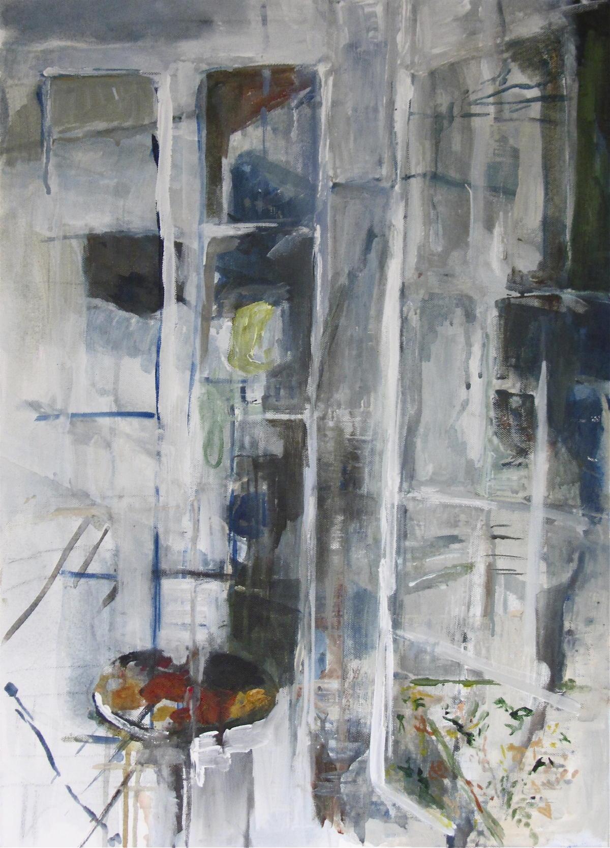 Fenêtres | Acryl op linnen | 80 x 60 cm | particuliere collectie