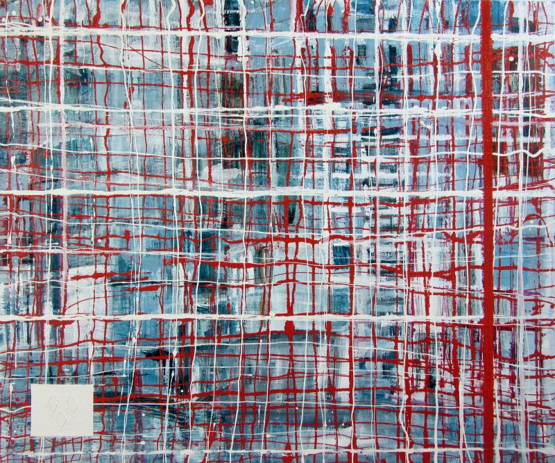 Finale | gemengde technieken op doek | 100 x 150 cm | collectie gemeente Almelo