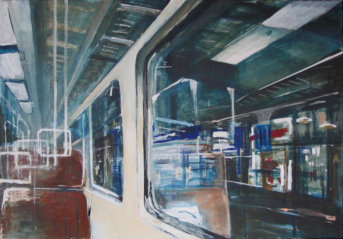 Lijn 12 | acryl op doek | 70 x 100 cm