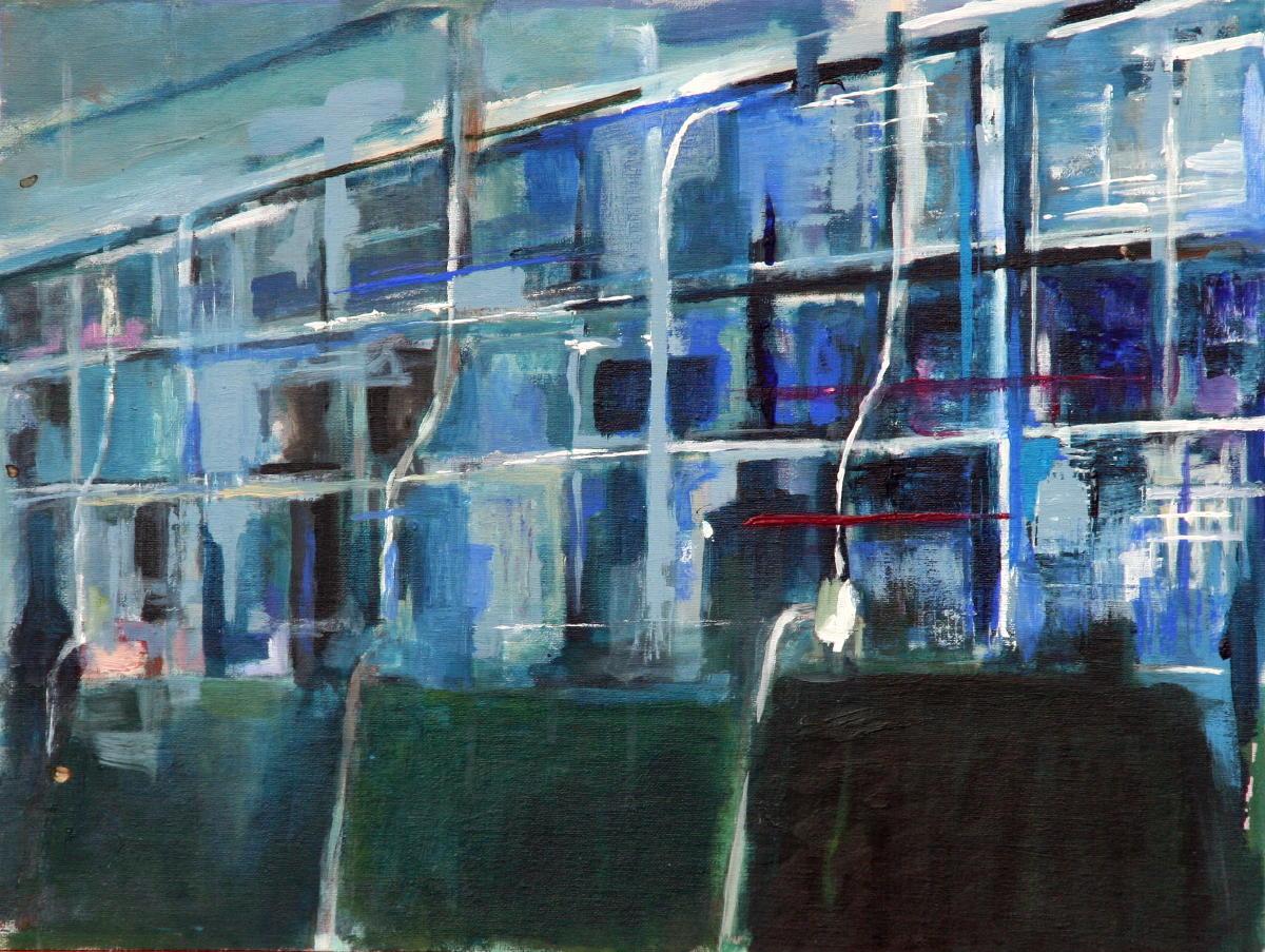 Lijn 10 | acryl op doek | 45 x 60 cm | particuliere collectie