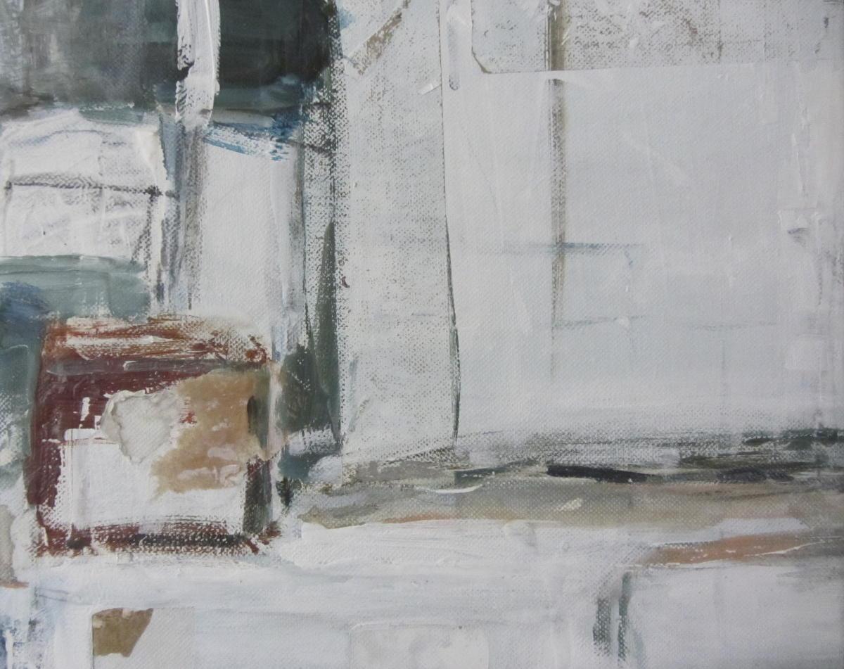 My little boxes (2)| Gemengde technieken op doek | 24 x 30 cm | Particuliere collectie