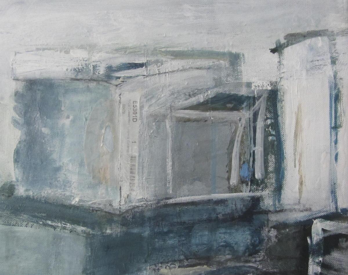 My little boxes (3) | Gemengde technieken op doek | 24 x 30 cm | Particuliere collectie
