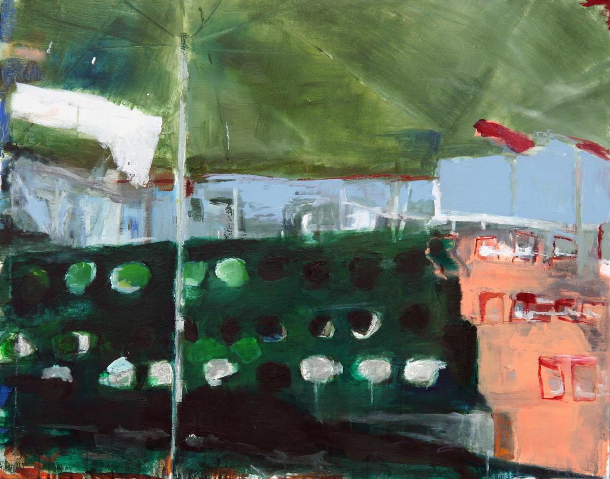 Parasol | Olieverf op doek | 80 x 100 cm | Particuliere collectie