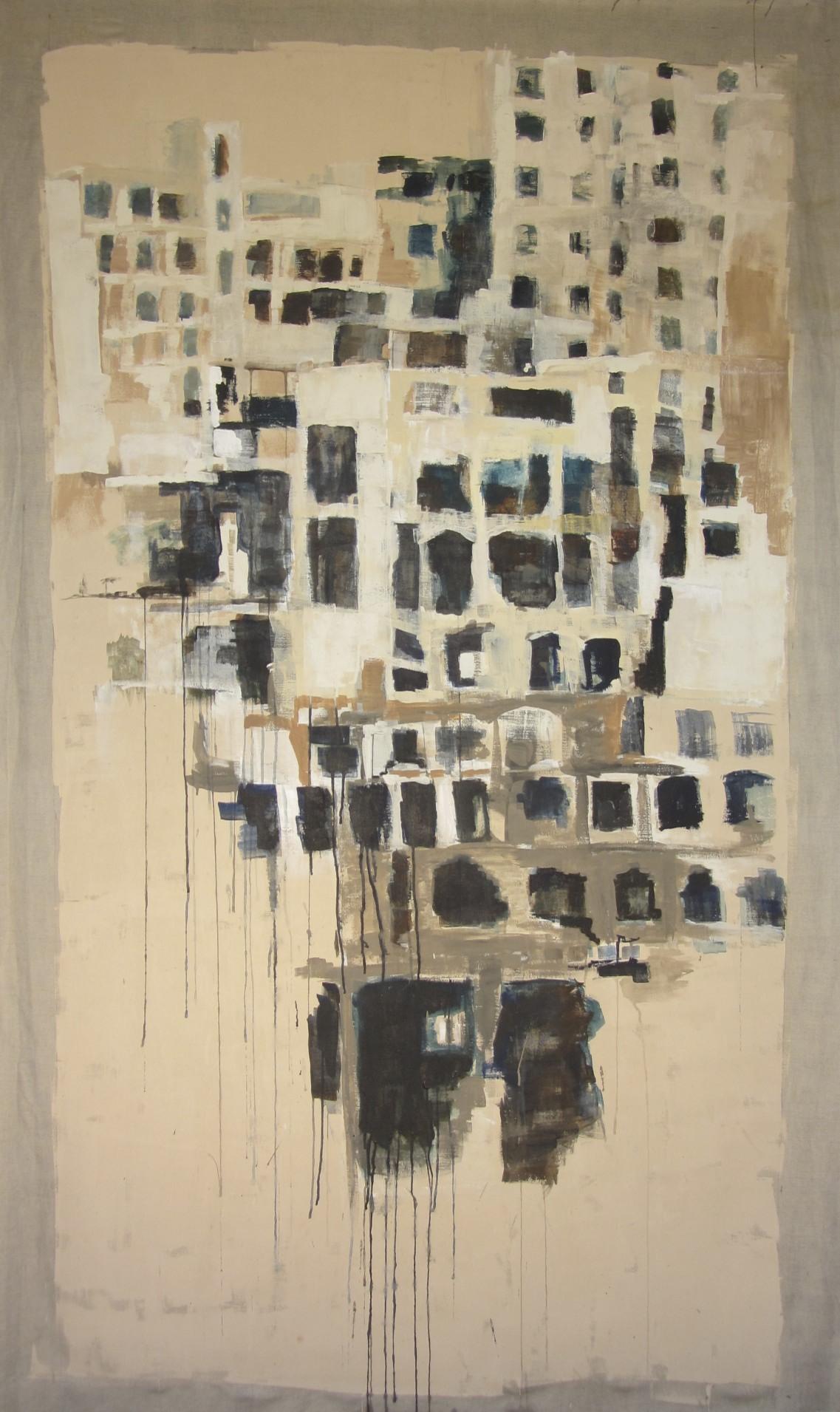 Syrië | latex op linnen | 225 x 1.20 | Particuliere collectie