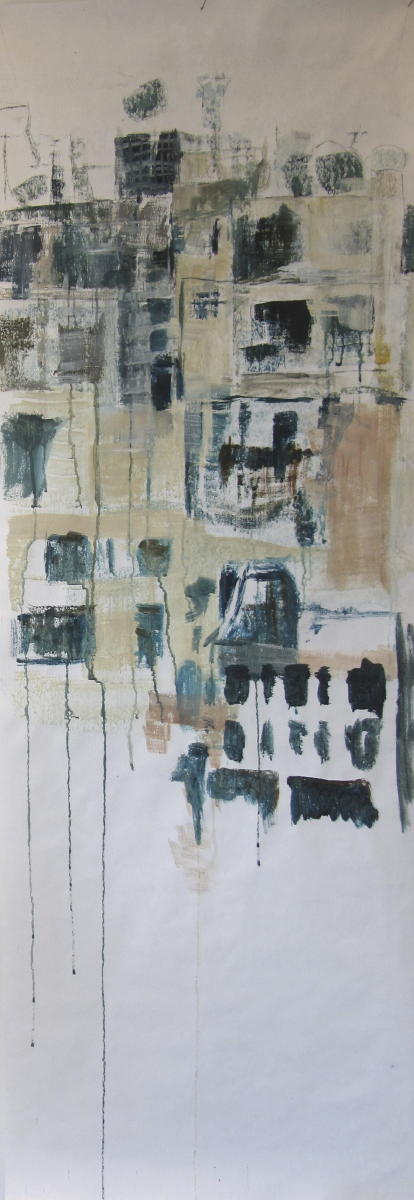 Syrië | acryl op papier | 150 x 53 cm.