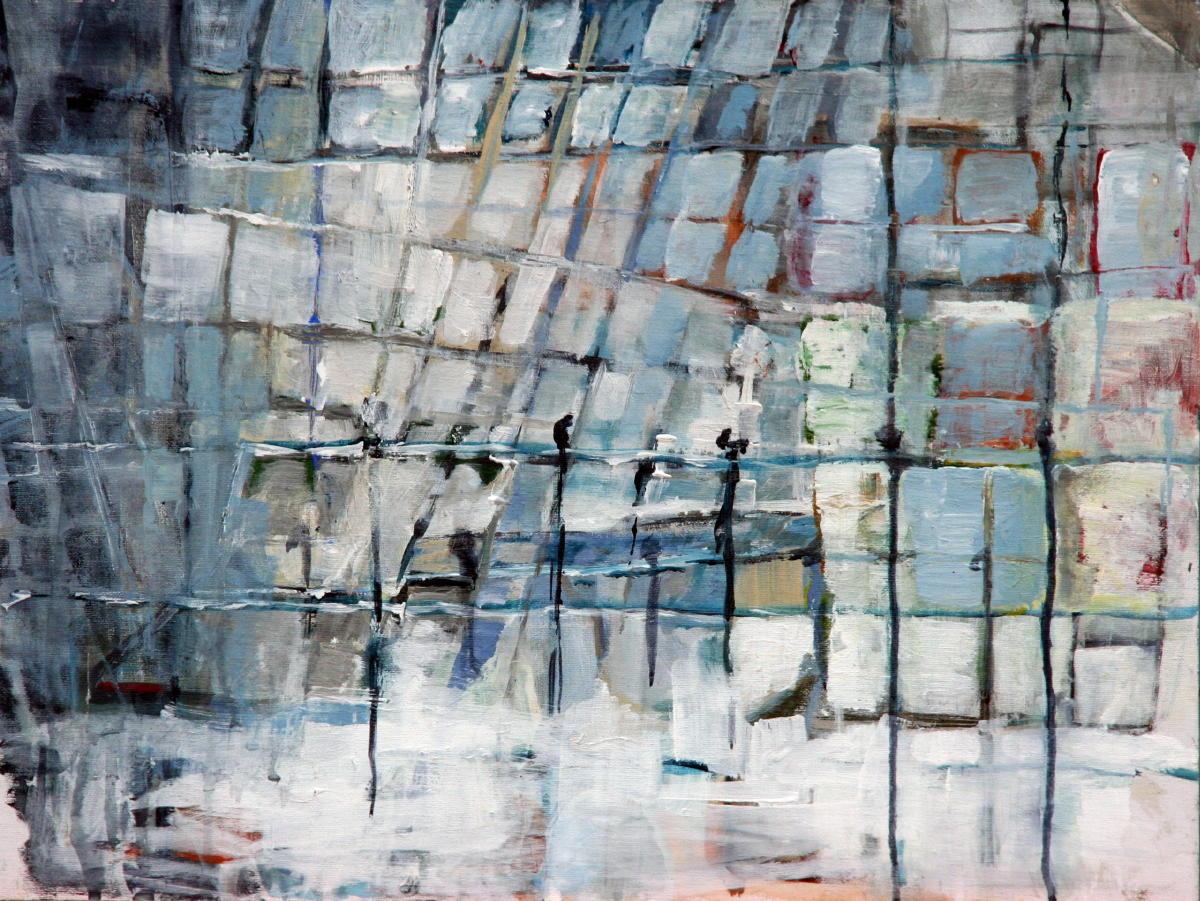 Stadszicht | acryl op doek | 45 x 60 cm