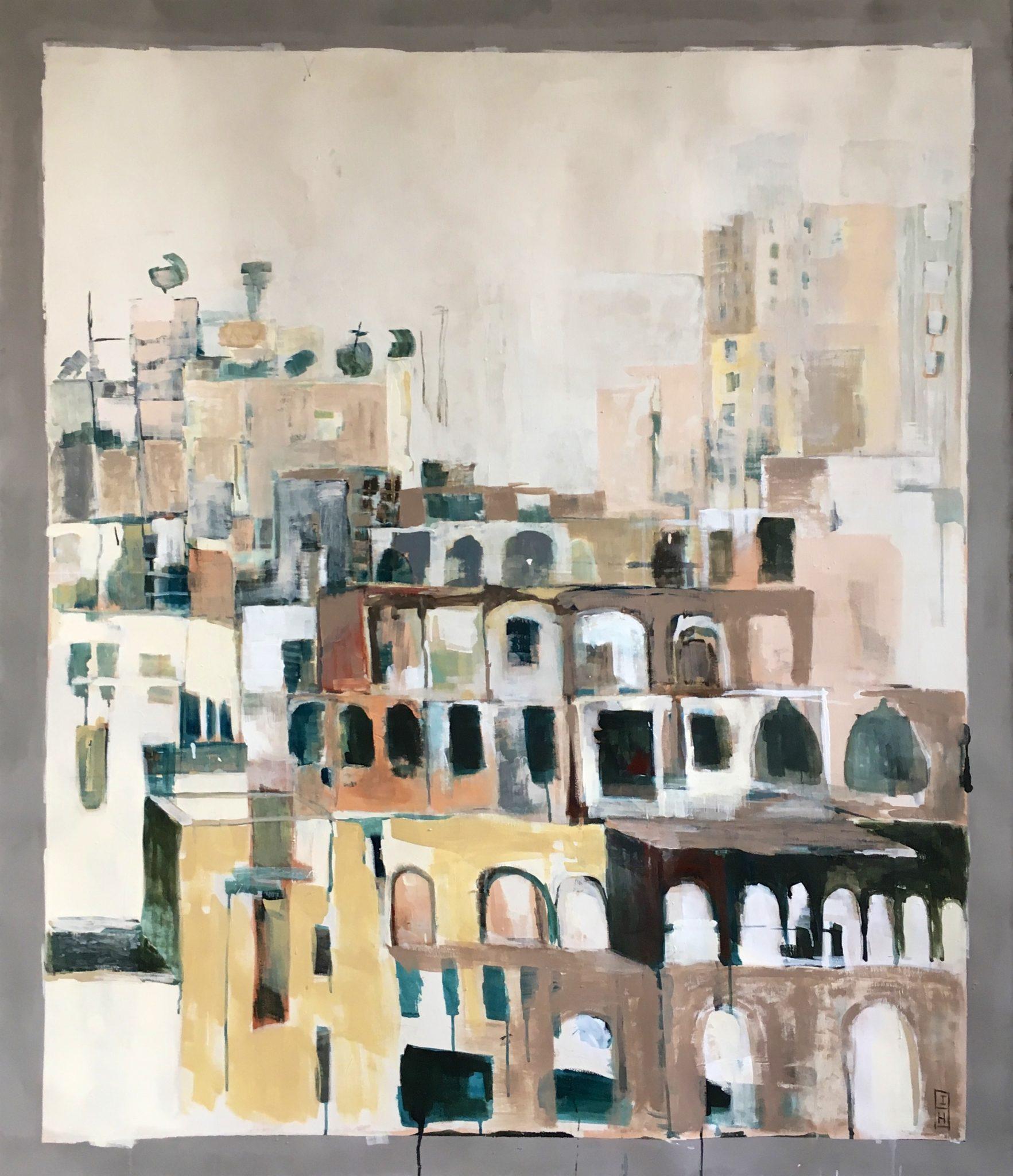 Iran 1 | latex en acryl op doek | 180 x 140 cm