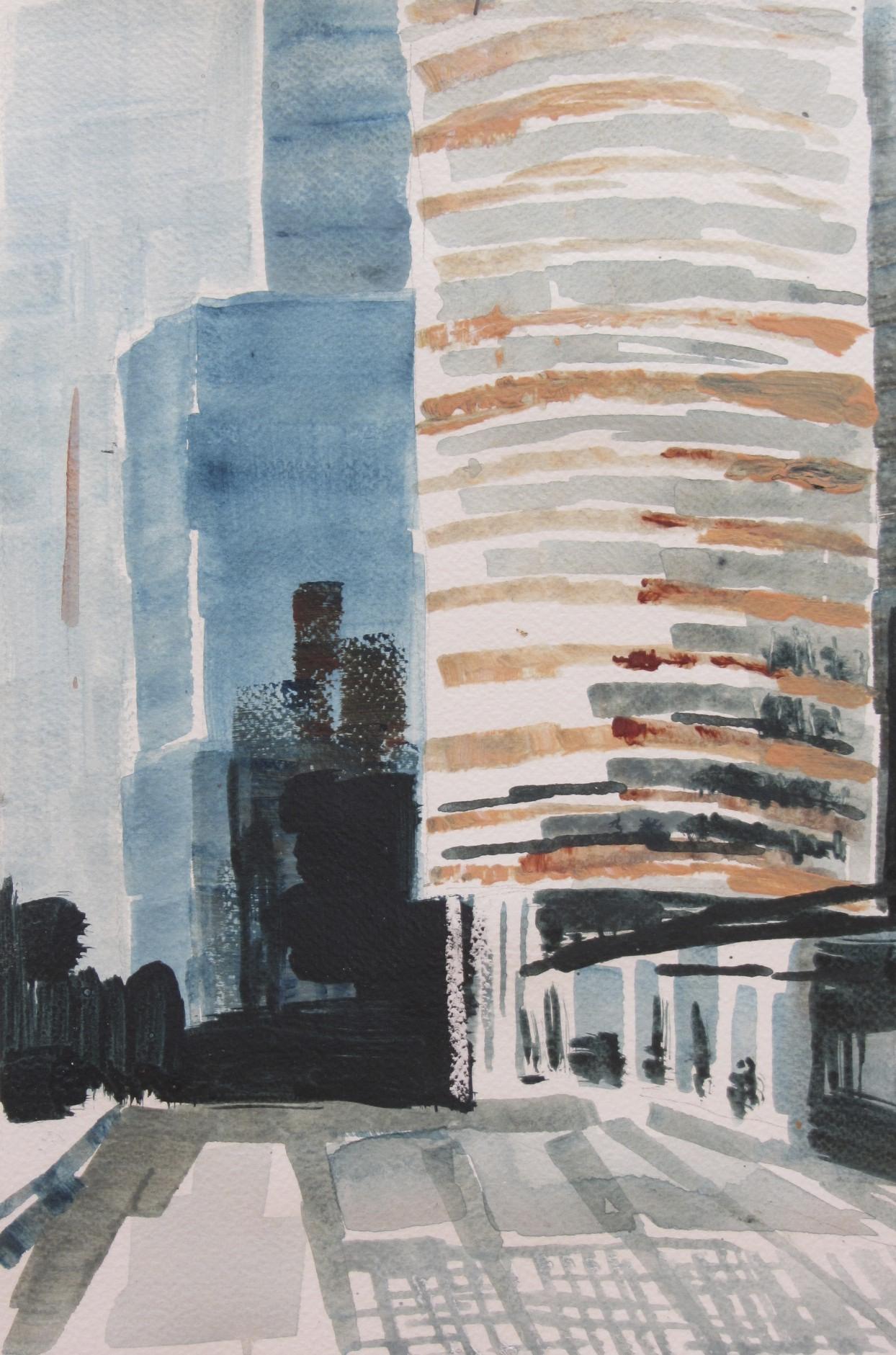 Rotterdam | acryl op papier | 25 x 20