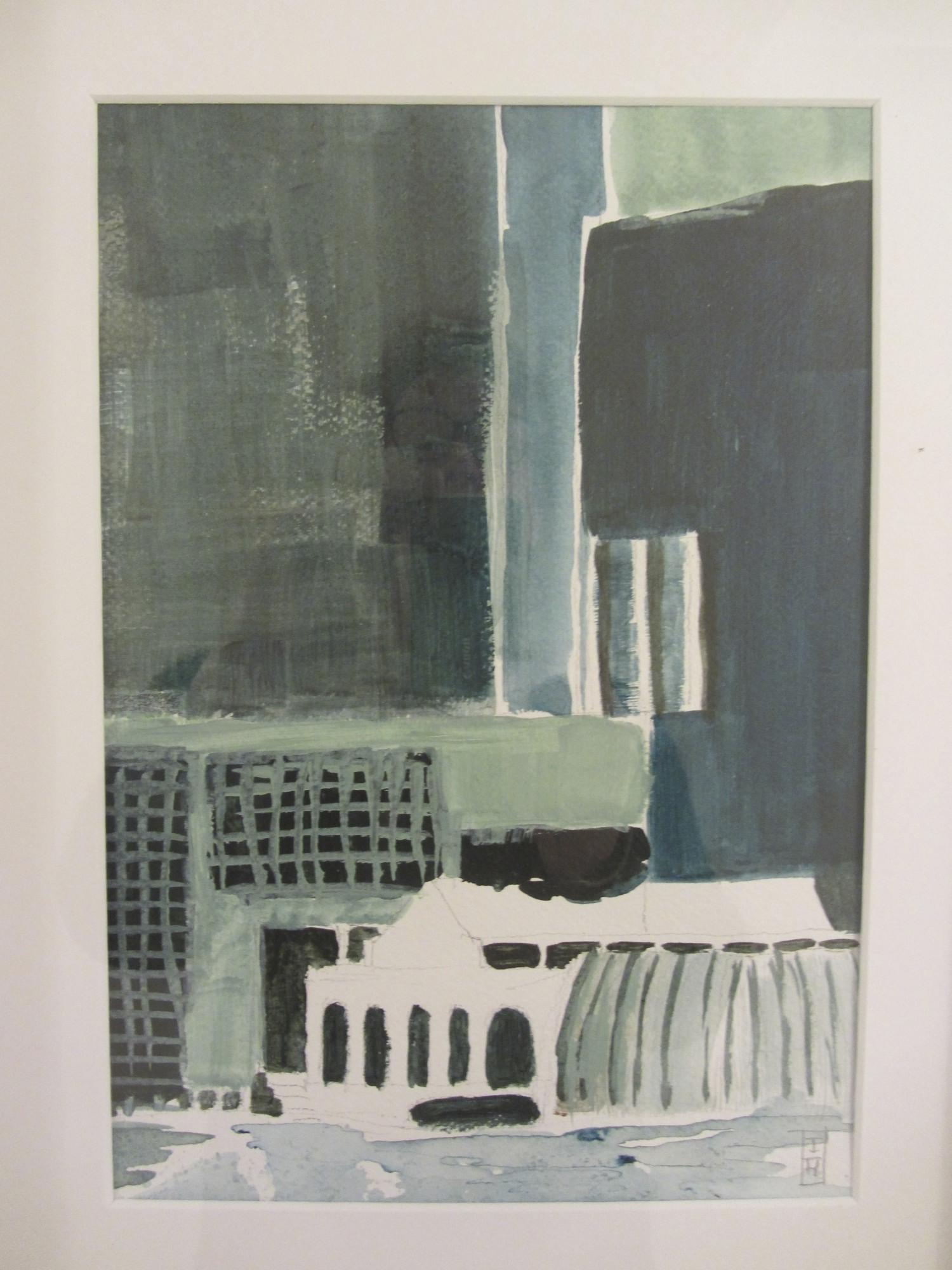 Singapore | acryl op papier | 25 x 20 cm | particuliere collectie