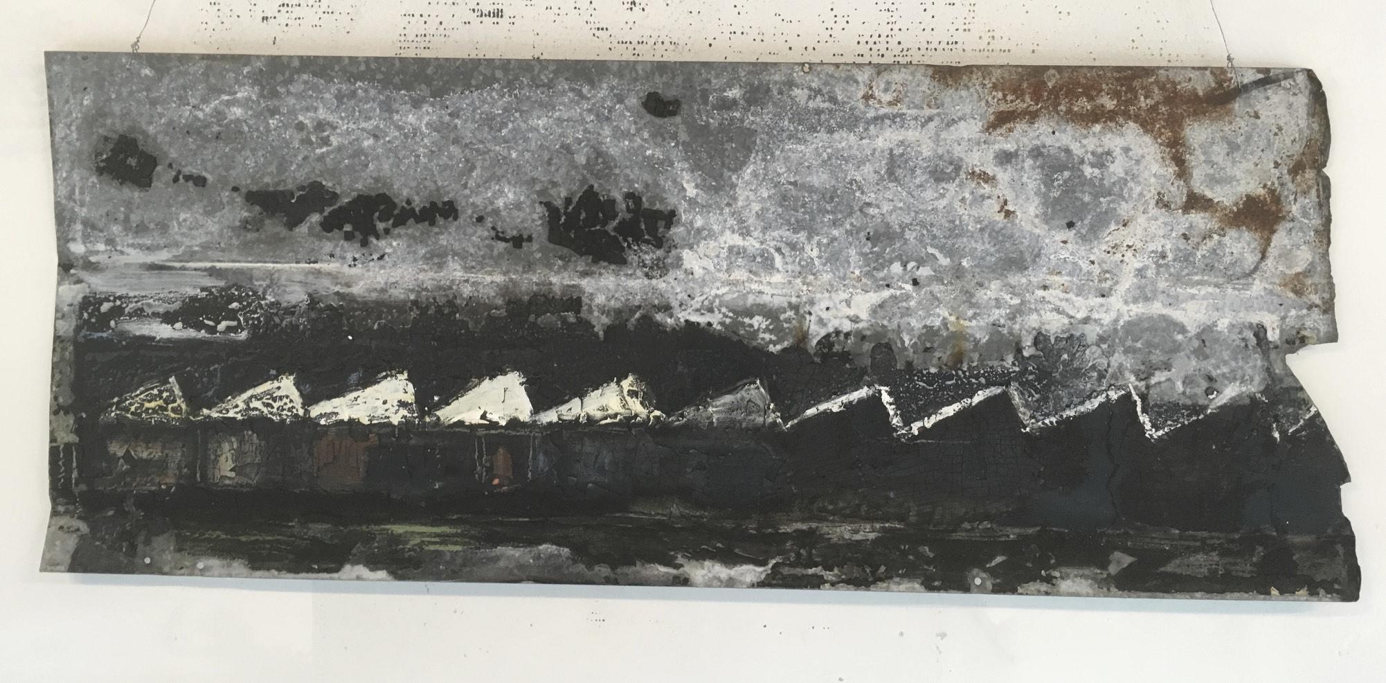 Zonder Titel | acryl op zink | 30 x 100 cm