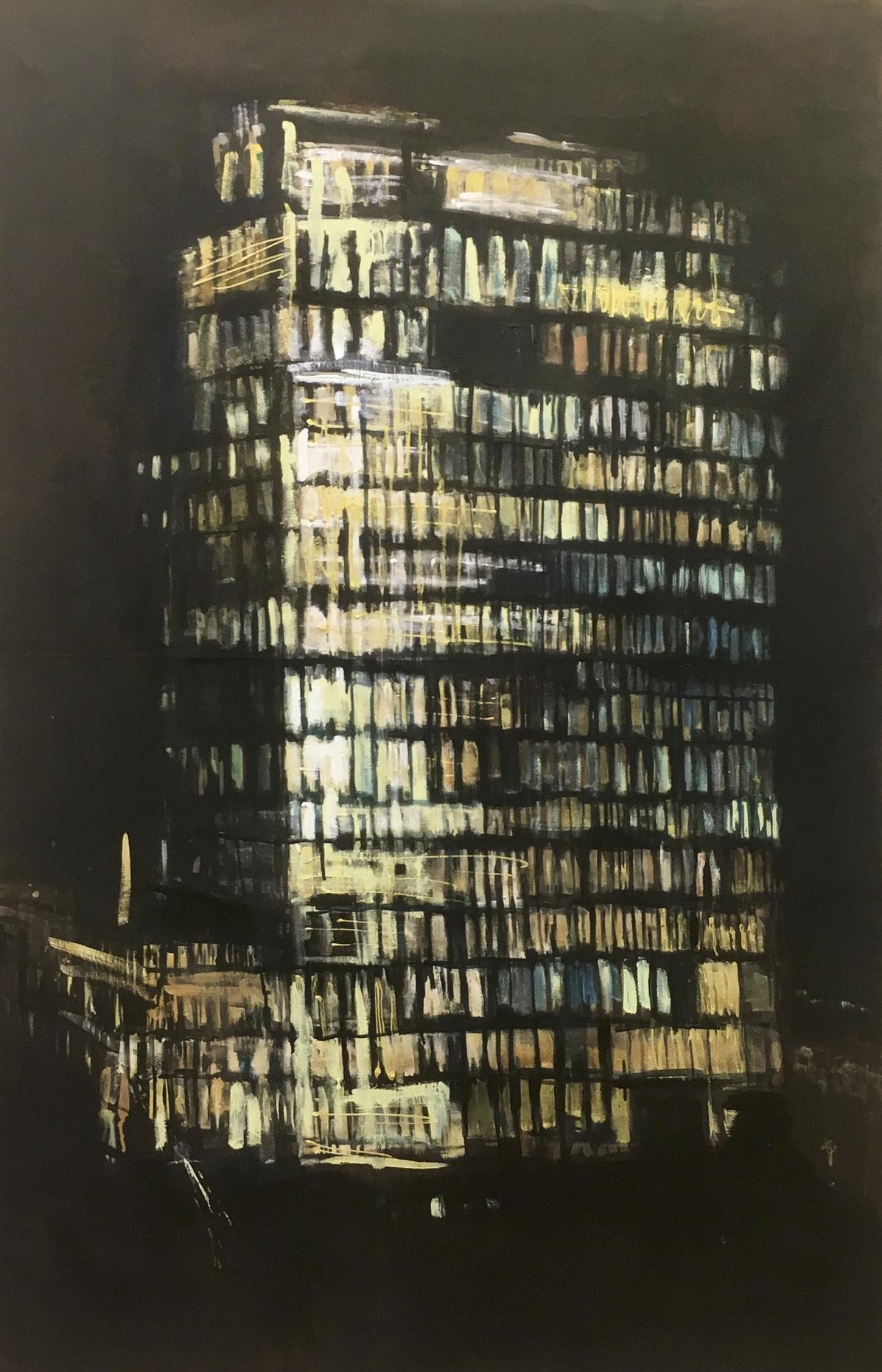 Verlichting 4, acryl op doek, 140 x 90