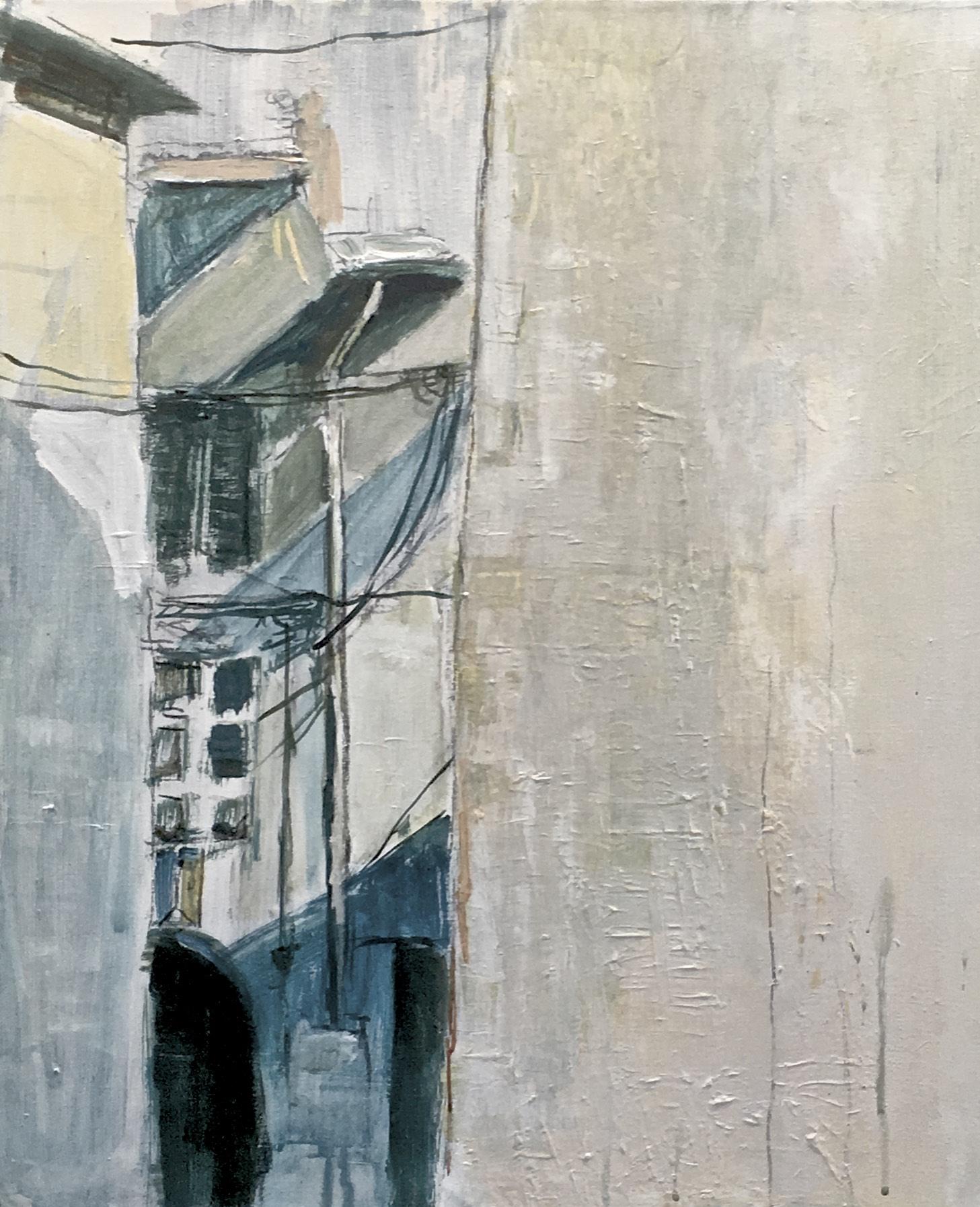 Doorkijk, acryl op doek I 60 x 50 cm I